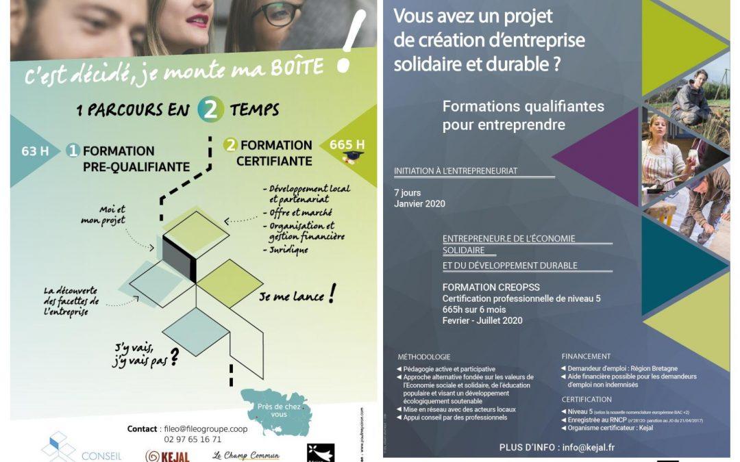 Formations entrepreneurs de l'ESS : prochaines dates sur le Morbihan et les Côtes d'Armor